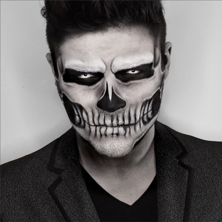 Detailed Sugar skull makeup