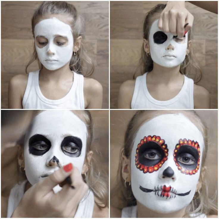 Easy and simple face paint steps