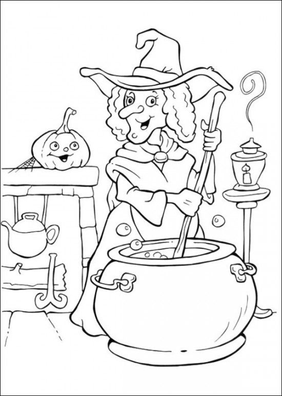 Free printable halloween coloring pages for kids EntertainmentMesh