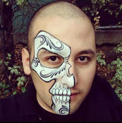 Half Face Halloween paint