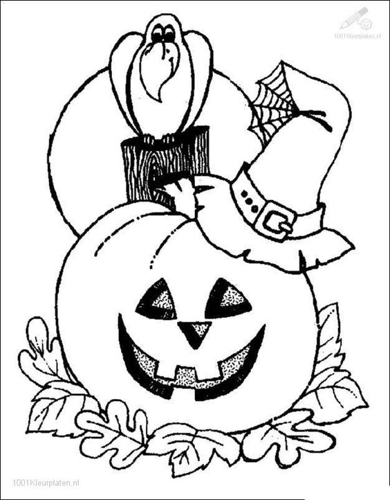 Halloween pumpkin drawing picture