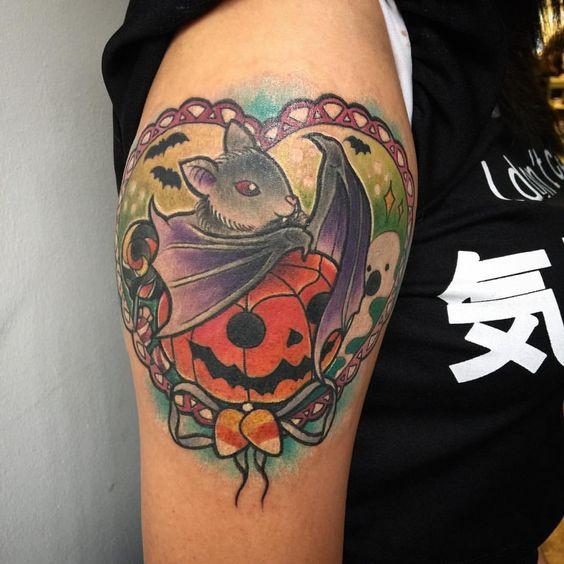 Halloween themed tattoo designs
