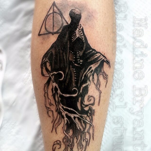 Harry Potter evil sinister Dementors Deathly Hallows tattoo