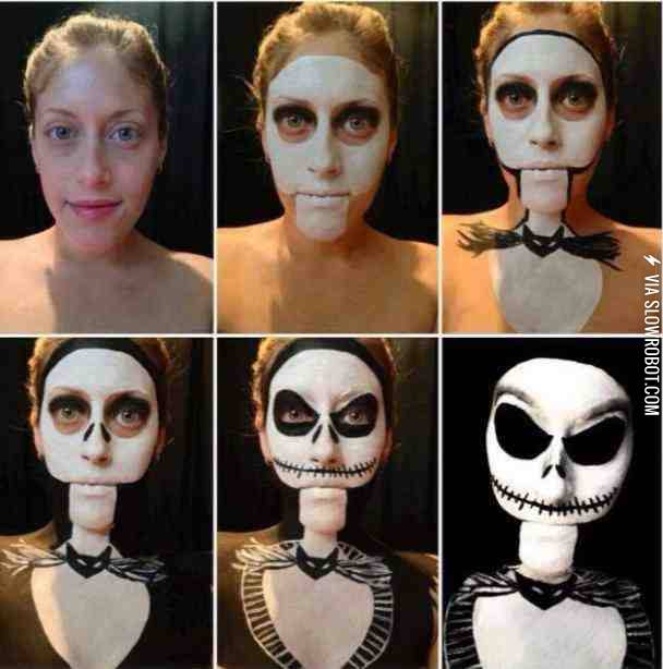 Jack Skellington Inspired 3D makeup