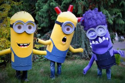 Minions with Halloween ghost