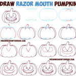 Razor mouth pumpkin tutorial