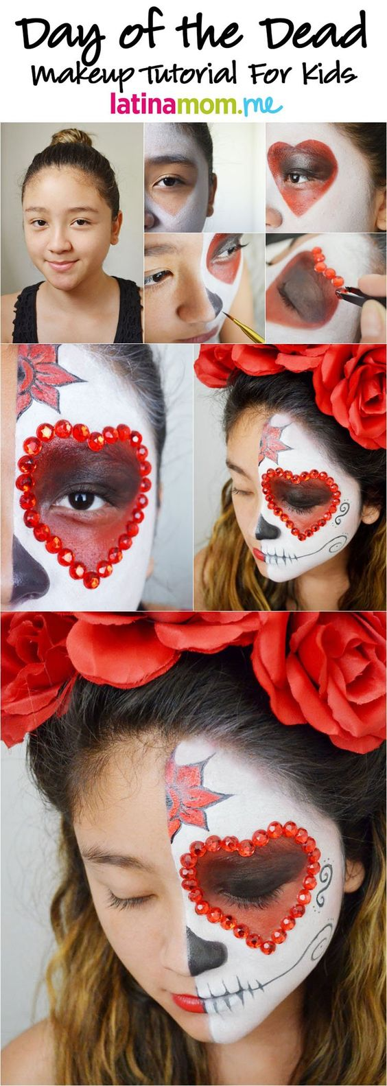 Spiritual Sugar skull face paint idea