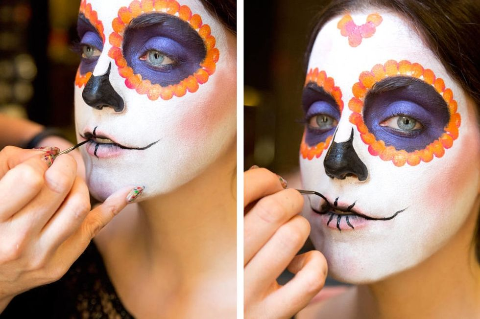 Sugar Skull Face paint Idea with M. A. C. cosmetics by Keri Blair