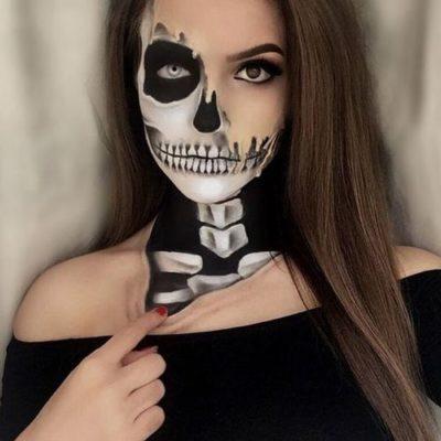 Sugar Skull makeup by Karla Garcia