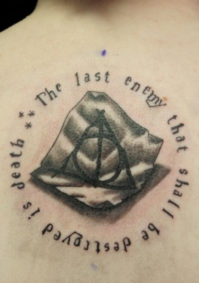 'The Last Enemy That Shall Be Destroyed Is Death' Quote Tattoo