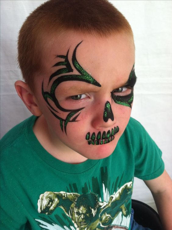Tribal Halloween face paint