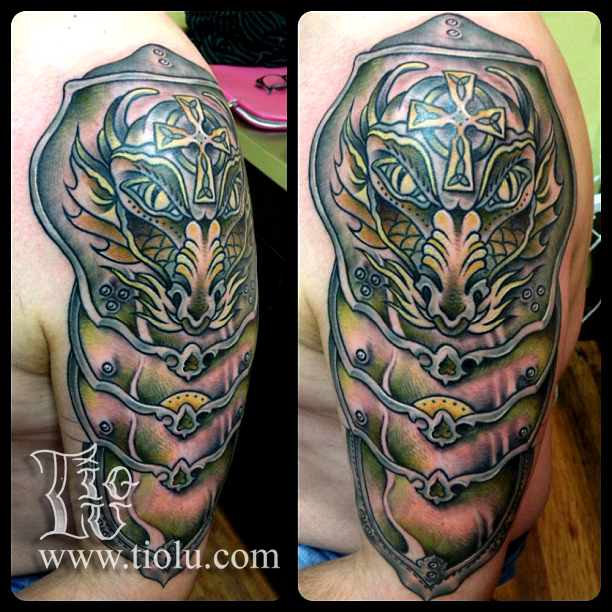 celtic dragon armor tattoo