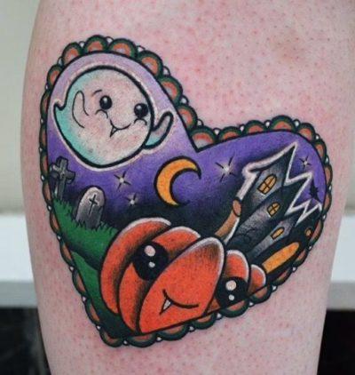 cute Halloween tattoo design ideas