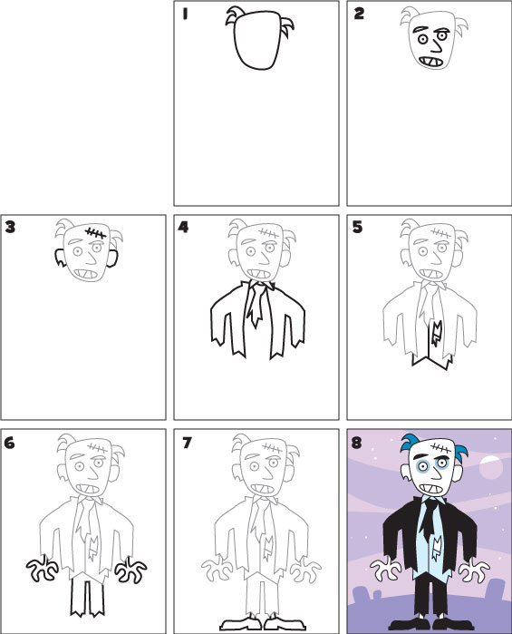 easy-way-to-draw-a-zombie-coloring-pages