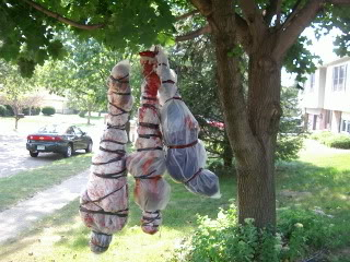 halloween Hanging Corpses decorations