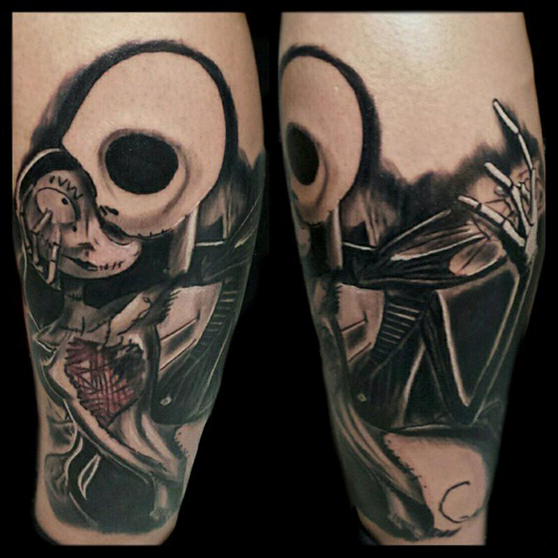 jack and sally love tattoo