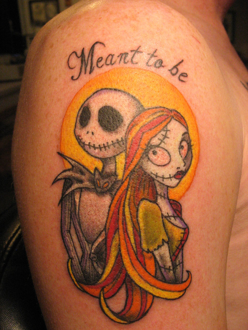 jack and sally meant to be tattoo