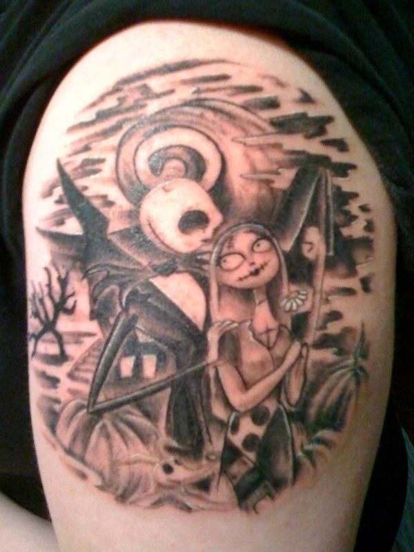 jack and sally nightmare before christmas tattoos