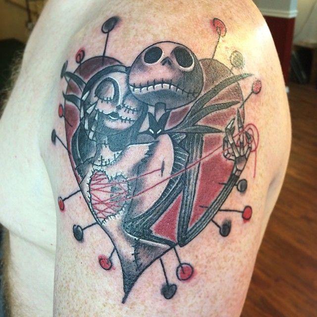 jack skellington sally heart tattoo