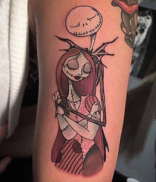 jack skellington tattoo sleeve