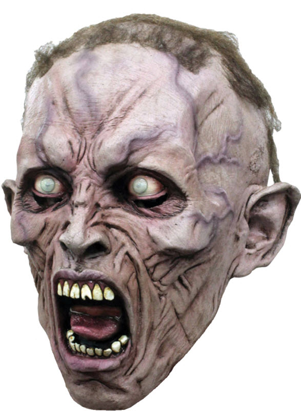 scary screaming zombie halloween mask