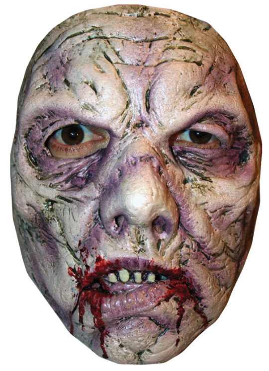 scary wrinkled face zombie mask