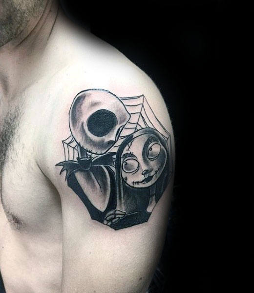 spider web jack and sally tattoos