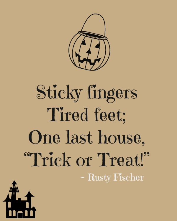 sticky fingers tired feet one last house trick or treat
