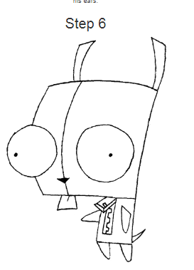 How to draw Zim step by step?