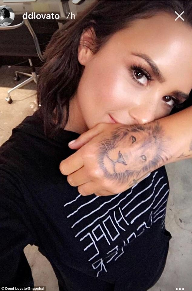 Demi Lovato Lion Tattoo