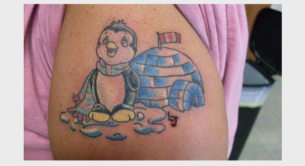 Icy Igloo tattoo for Christmas