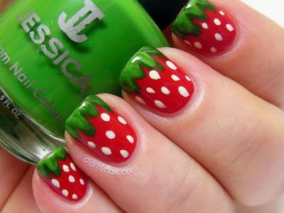 Strawberry Nail Art Designs