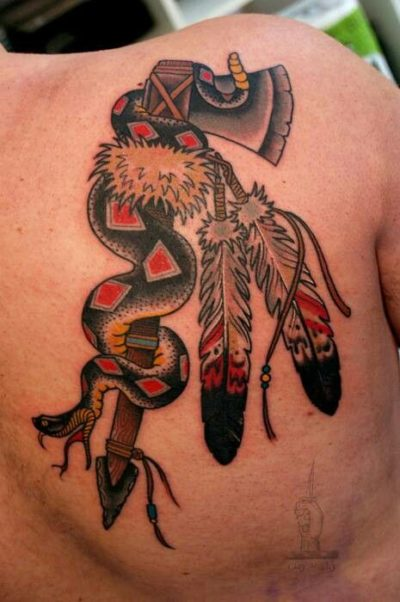 american traditional vintage tattoo design for men