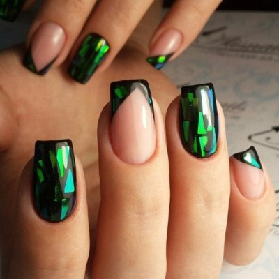 best green shade nail designs 2017