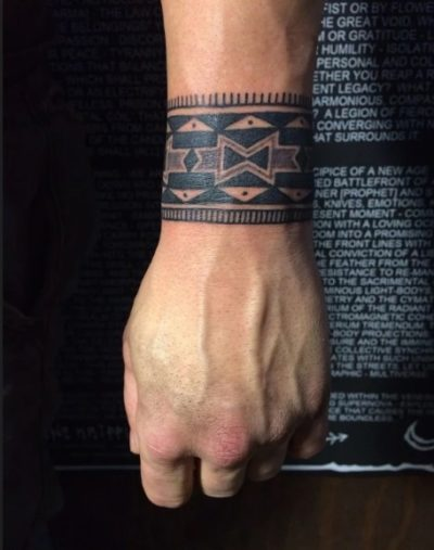 best traditional wrist band tattoo design for men