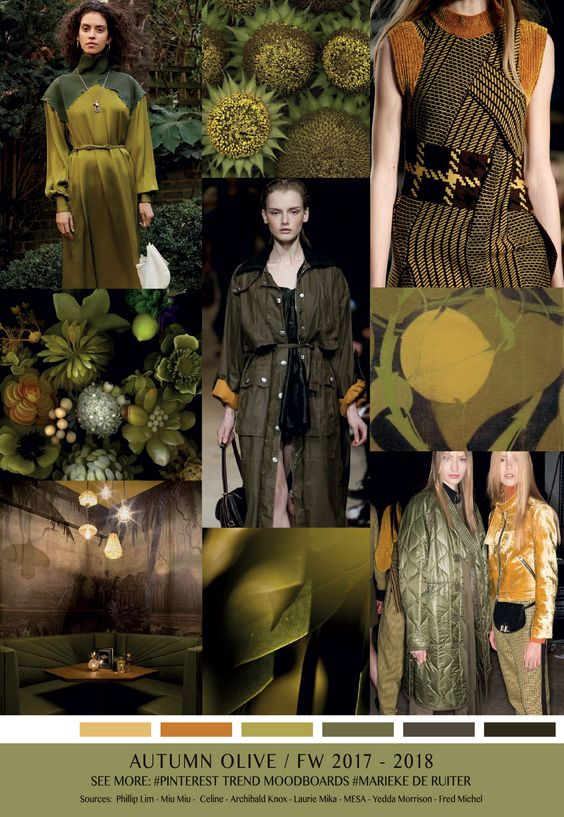 fall winter 2017-2018 colors trends patterns - Autumn Olive