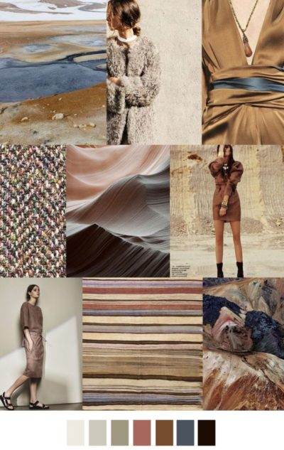 fall winter 2017-2018 colors trends patterns - Earth Tone