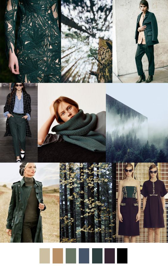 fall winter 2017-2018 colors trends patterns - Ever Green