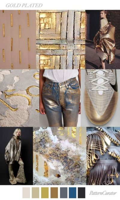 fall winter 2017-2018 colors trends patterns - Gold Plated