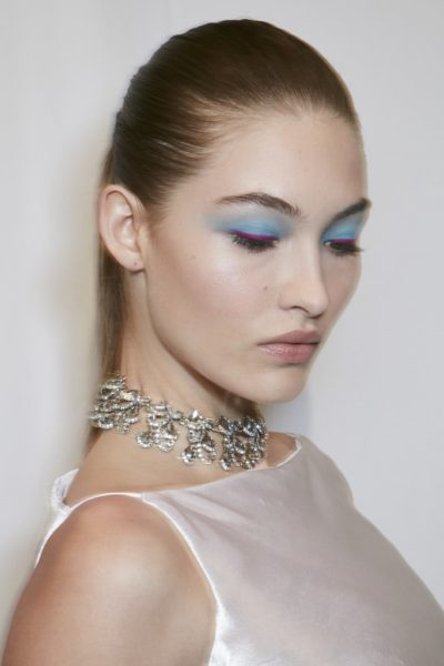 fall winter makeup trends Powder Blue Eye Makeup