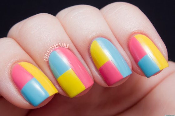 simple multi-color nail designs step by step guide