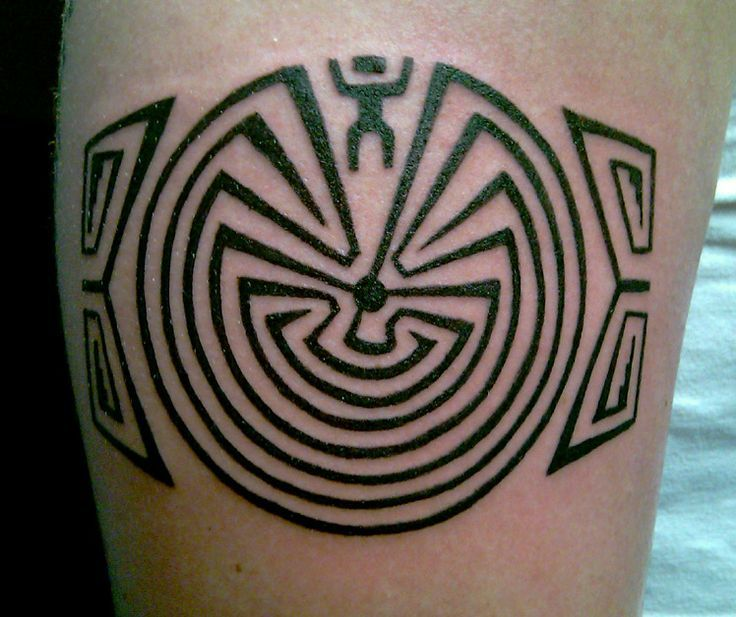 tribal maze tattoo