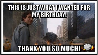 Funny Birthday Thank You Meme caption image