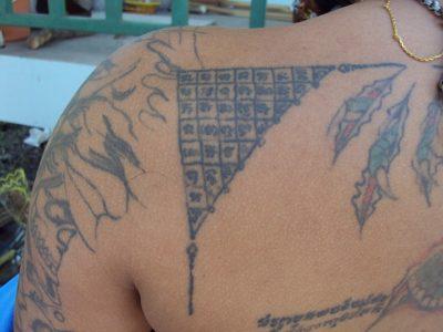 Sak Yant Tong Maharat yantra tattoo