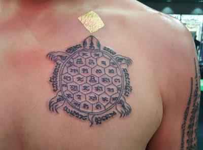 Turtle Yantra Sak Yant Thai Tattoo