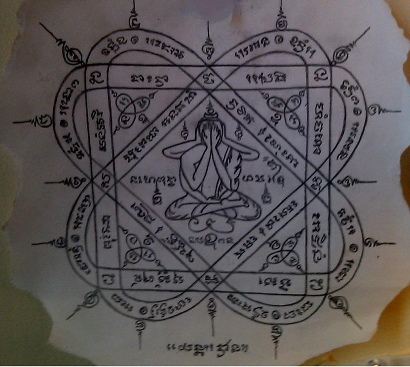 Yant Pra Pid Tawarn buddhist tattoo symbol