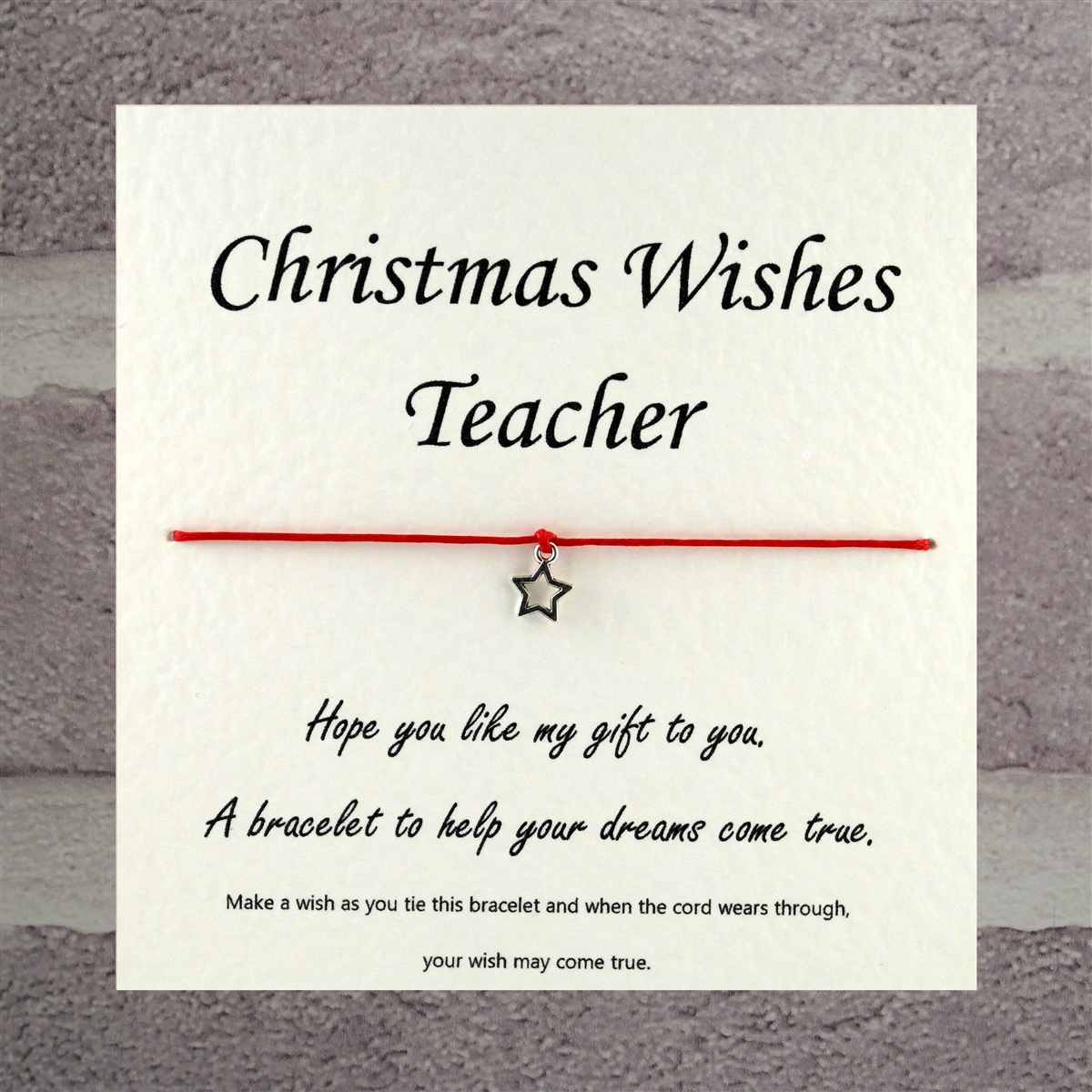 cards to teachers wishing merry Christmas