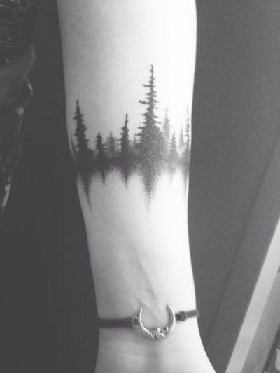 dark forest armband tattoo