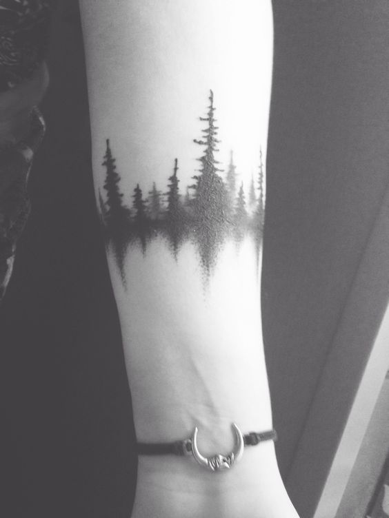 dark forest armband tattoo