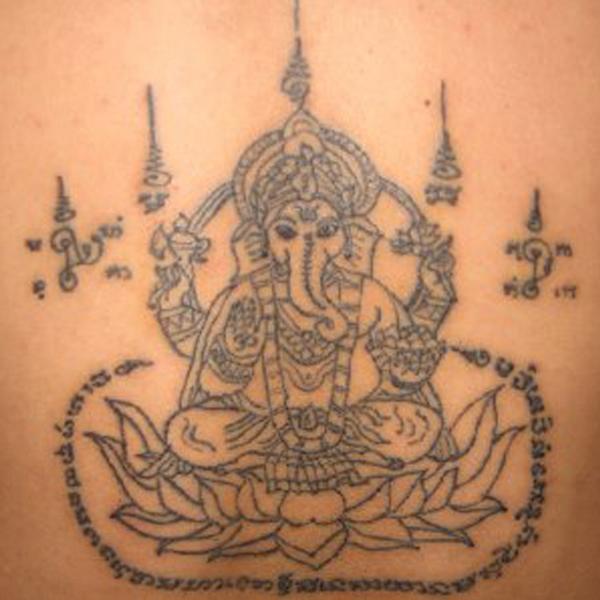 Ganesh sak yant tattoo entertainmentmesh for Sak yant tattoo rules